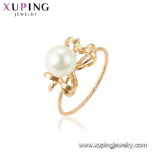15460 xuping mode lueur or 18 carats plaqué or imitation perle conceptions pour dame