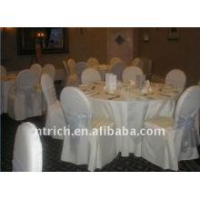 Couverture de chaise de banquet standard, CT026 polyester matière, durable et facile lavable
