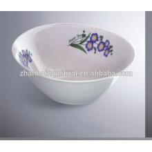 2015 nuevo tazón de fuente diseñado de la porcelana