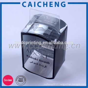 Customized packaging plastic box clear pvc box with hole