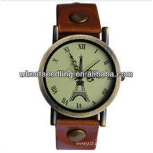 Leather Watchband Gold Plated Melhor Presente Para Senhoras Assista