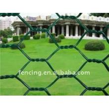 PVC revestido e galvanizado de rede de fio hexagonal