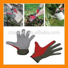 Buen precio Guantes de jardín de cuero sintético suave de protección de manos