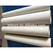 Stocks disponibles 60% - 75% alumine céramique tube tube rouleau à haute qualité four réfractaire
