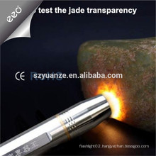 Stainless Steel Jade Testing Flashlight, led flashlight,18650 battery