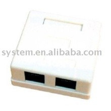 Cat.5e montaje en superficie caja de doble puerto