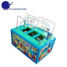 Kids Educational 5 en 1 grand cube en bois multi-fonctions Intelligent Playing Cube