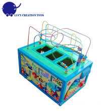 Kids Educational 5 in 1 Large Wooden Multi-function Intelligent Playing Cube