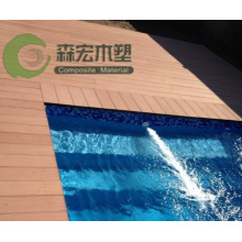Outdoor Swimming Pool Floor Waterproof WPC Decking