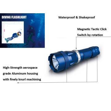 CREE XM-L T6 LED Unterwasser Tauchen Taschenlampen 5 Modi