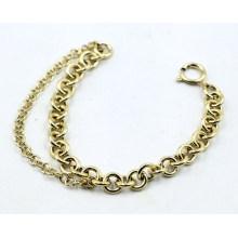 18k Gold überzogenes Edelstahl-Kettenarmband für Frau
