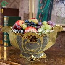 Французское традиционное фарфоровое домашнее украшение Керамическая плита плодоовощ плита