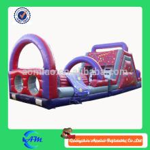 Cor personalizada obstáculo inflável de alta qualidade para adultos e crianças