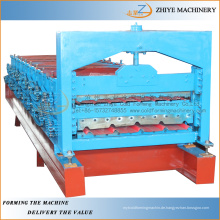 Farbige Stahlblech Doppelschicht Zink Dachbahnen Produktionsmaschine