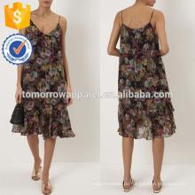 Neue Mode Multi Schwarz Shadow Rose Blumenkleid Herstellung Großhandel Mode Frauen Bekleidung (TA5292D)