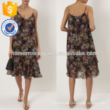 New Fashion Multi Black Shadow Rose Floral Dress Manufacture Wholesale Fashion Women Apparel (TA5292D)