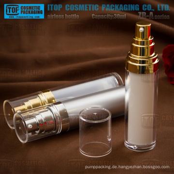 ZB-A-Serie 15ml - 30ml klassische Zylinder Acryl luftlose Flasche