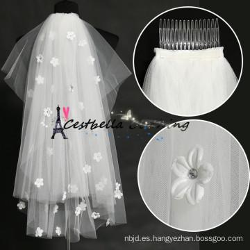 Los accesorios nupciales de la boda de la alta calidad atan los velos nupciales elegantes 2016 del cordón