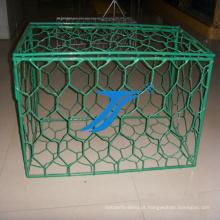 Caixa da malha de Gabion com o PVC revestido, terraplenagem, caixa de fio, caixa da malha, barries do rio