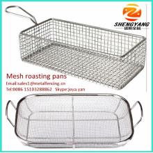 En gros facile à nettoyer les casseroles de rôtissage des aliments sains de qualité alimentaire torréfacteurs casseroles rectanguler en acier inoxydable à mailles fines rôtissoires
