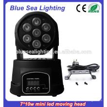 7x10w rgbw 4in1Led Mini Umzug Innenbühnenbeleuchtung