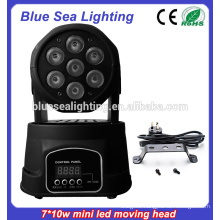 7x10w rgbw 4in1Led Mini Moving indoor stage lighting