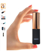 Mini Lipstick Power Bank Portable Mobile Battery Charger 2400mAh