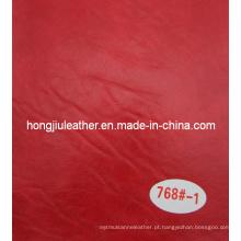 Couro de imitação vermelho do papel de embalagem para o projeto decorativo
