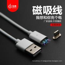Câble de chargeur magnétique le plus récent pour Apple et Android Mobile