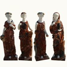 decoração ocidental tradicional jardim de pedra natural quatro estações estátuas de mármore