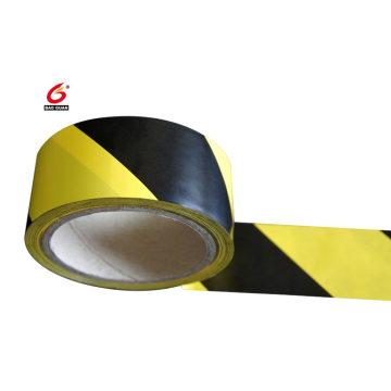 Ruban d'avertissement de danger noir et jaune auto-adhésif