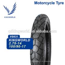 Excursão de borracha de 56% 100 / 90-17 110 / 90-17 Escolha do fornecedor da motocicleta sem câmara de ar do pneu