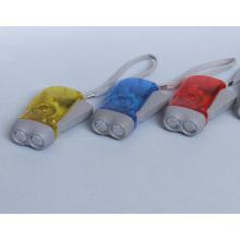 Main Pressing 2 LED Dynamo Torch Lampe de poche