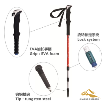 Aluminum Alloy Pole 3 Section Ultra Light