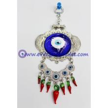 Fish Shaped Evil Eye Pendant Wall Hanging