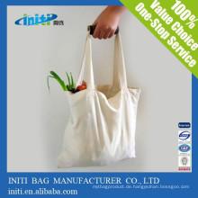 China-kundenspezifische preiswerte Qualität recyclebare Einkaufenbaumwollbeutel