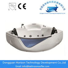 China Manufacturers for Sector massage Bathtub,Acrylic Sector Bath Tub,Indoor Sector Bath Tub,Sector 2 Person Bathtub Manufacturers in China Jacuzzi Acrylic Massage Corner soaking acrylic tub supply to Poland Exporter