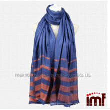 100% Pure Angora Cashmere Woven Blue Wrap & Shawls for Lady Autumn