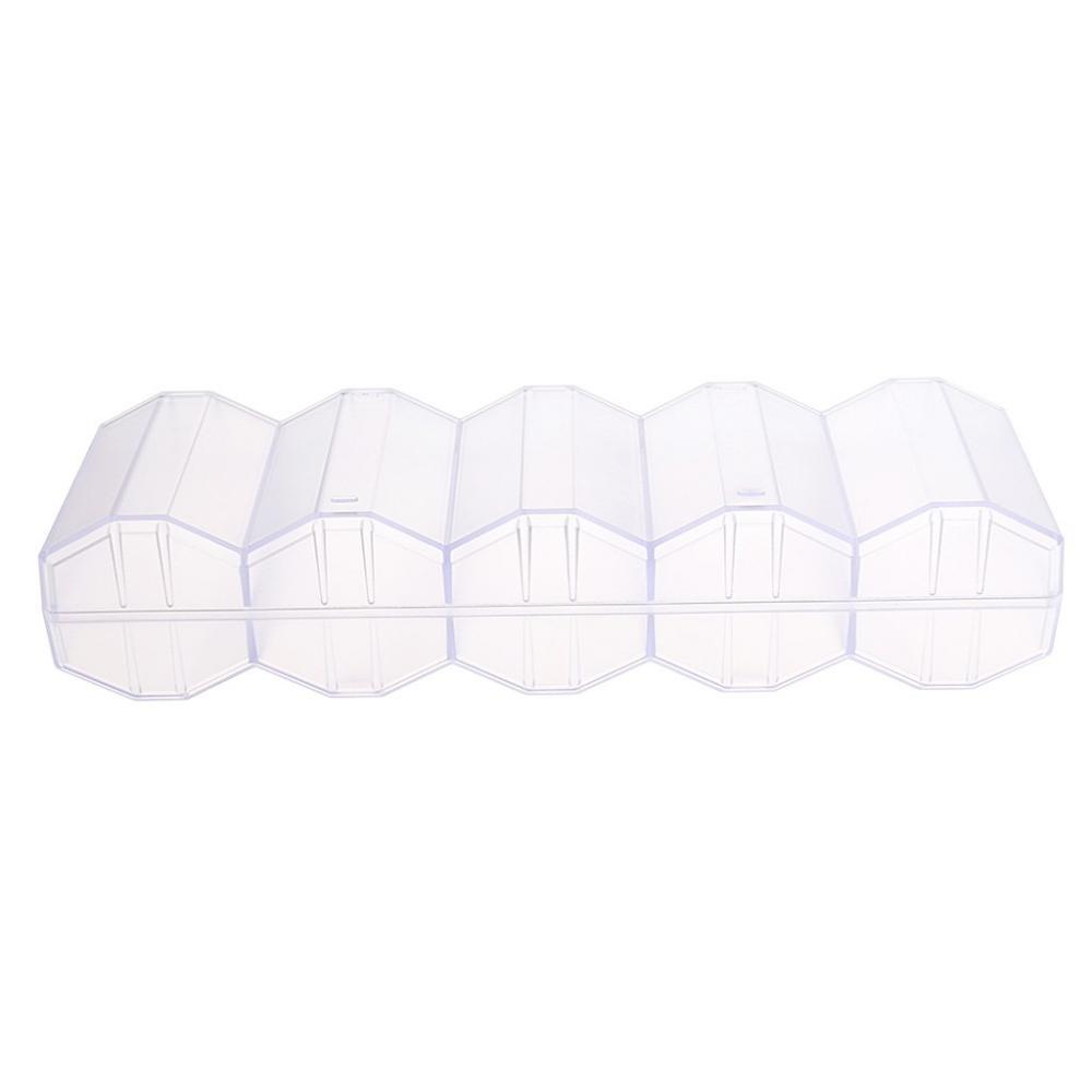 Acrylic 100pcs Capacity Honeycomb Shape Poker Chip Tray