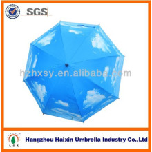 Golf Straight Outdoor Umbrella with Cloud Printing
