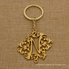 Custom Hollow Metal Gold Key Chain with Good Shape