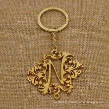 Custom Oco Metal Chaveiro de ouro com boa forma
