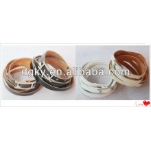 Punk Wholesale Men Fashion Leather Bracelets