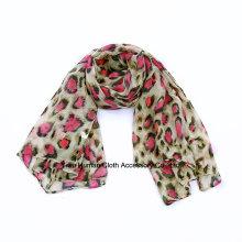 Foulard long imprimé de mode Leopard pour Lady