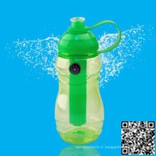 600ml bouteille d'eau de sport avec boussole, bouteille de sport en plastique, bouteille d'eau sans BPA