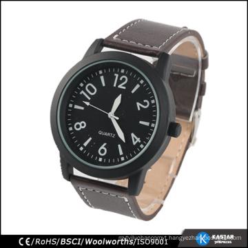 classic men watch black stainless steel back watch