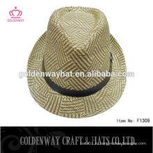 Смешанный цвет леди вязание крючком fedora hat