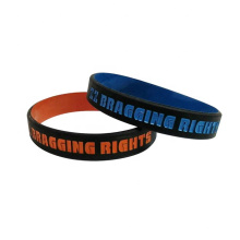 Silicone Wristband in Color Coated Style Double Side