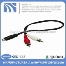 RCA hembra a doble RCA macho adaptador de audio y cable