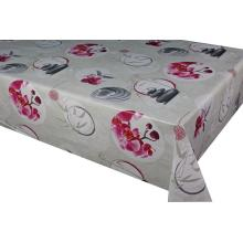 Flower Printed Tablecloth With Non Woven Backing